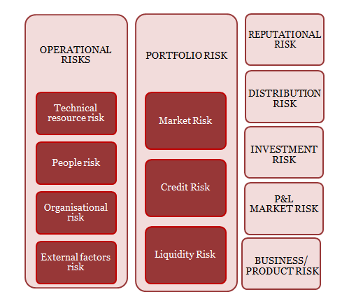 Figure 1. Types of risk exposures faced by Management Companies