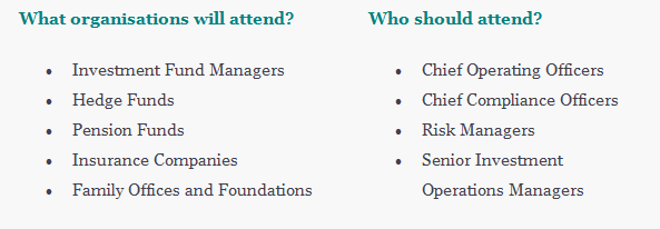 What organisations will attend? and Who should attend?